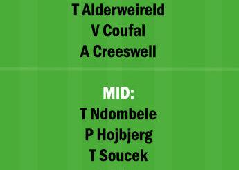 WHU vs TOT Dream11 Team fantasy Prediction Premier League