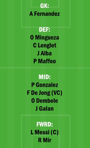 BAR vs HUE Dream11 Team fantasy Prediction LaLiga Santander