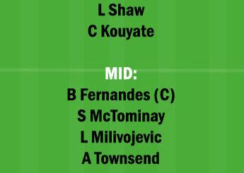 CRY vs MUN Dream11 Team fantasy Prediction Premier League