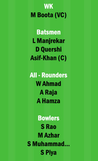 EMB vs AJM 20th Match Dream11 Team fantasy Prediction FanCode Emirates D10