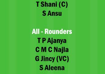RUB vs AMB Dream11 Team fantasy Prediction Kerala Womens T20