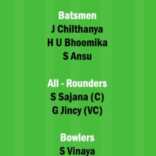 SAP vs AMB Dream11 Team fantasy Prediction Kerala Womens T20