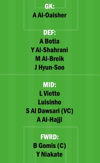 WAH vs HLL Dream11 Team fantasy Prediction Saudi Arabian League