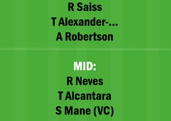 WOL vs LIV Dream11 Team fantasy Prediction Premier League