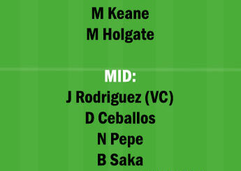 ARS vs EVE Dream11 Team fantasy Prediction Premier League