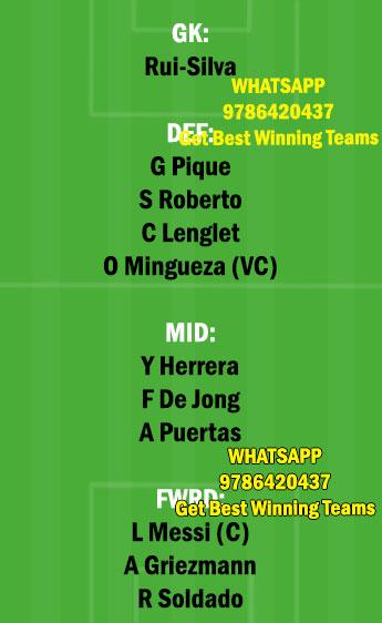 BAR vs GRD Dream11 Team fantasy Prediction LaLiga Santander