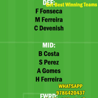 BOA vs PAC Dream11 Team fantasy Prediction Portuguese League