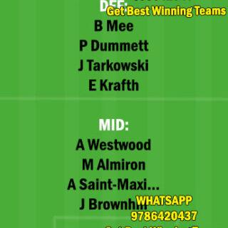 BUR vs NEW Dream11 Team fantasy Prediction Premier League
