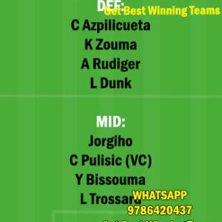 CHE vs BHA Dream11 Team fantasy Prediction Premier League