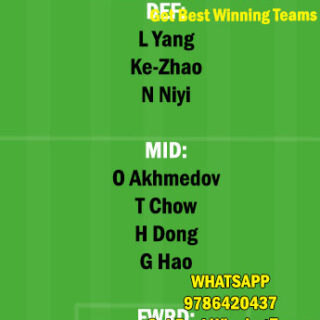 CNGZ vs HN Dream11 Team fantasy Prediction Chinese super League