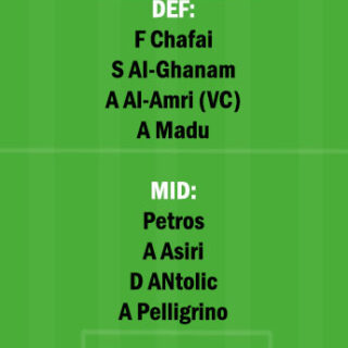 DAM vs NSSR Dream11 Team fantasy Prediction Saudi Arabian League