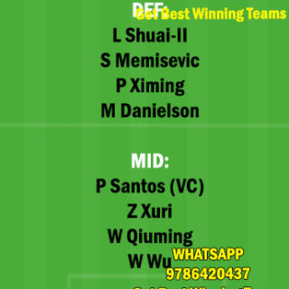DLN vs HBI Dream11 Team fantasy Prediction Chinese Super League