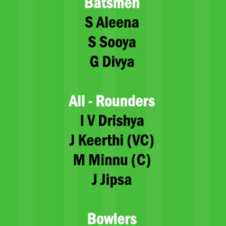 EME vs PEA Dream11 Team fantasy Prediction Kerala Womens T20