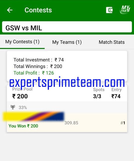 GSW-VS-MIL-Dream11-Results-