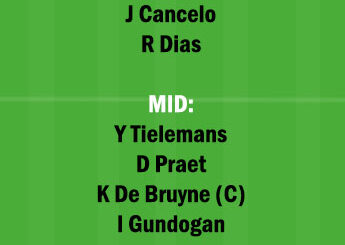LEI vs MCI Dream11 Team fantasy Prediction Premier League
