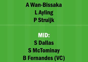 LU vs MUN Dream11 Team fantasy Prediction Premier League