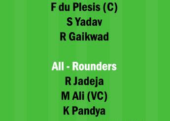 MI vs CSK 27th Match Dream11 Team fantasy Prediction IPL 2021