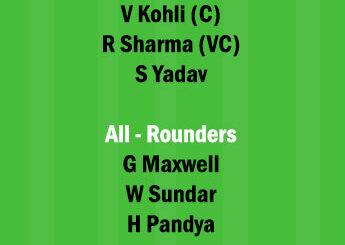 MI vs RCB 1st Match Dream11 Team fantasy Prediction IPL 2021