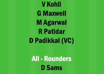 PBKS vs BLR 26th Match Dream11 Team fantasy Prediction IPL 2021