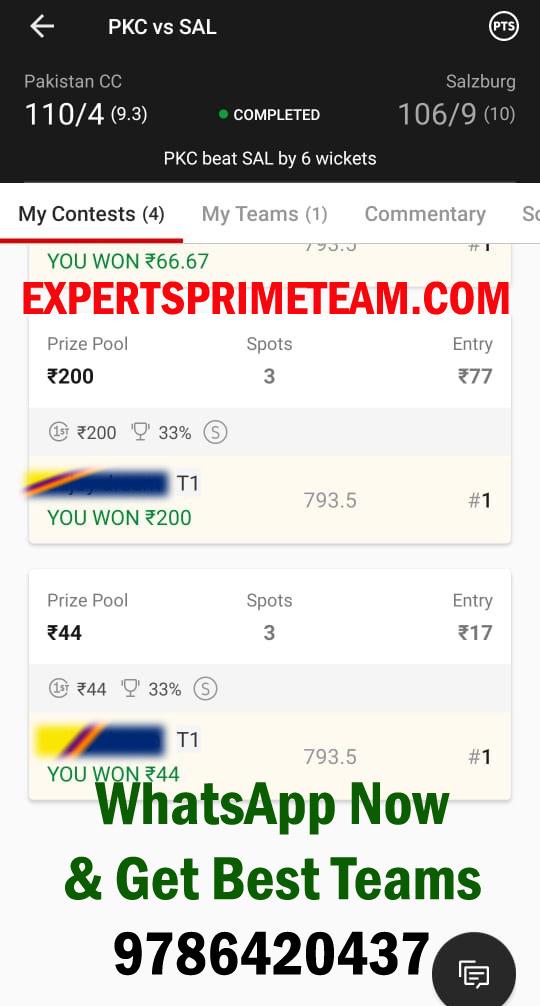 PKC-VS-SAL-Dream11-Results-