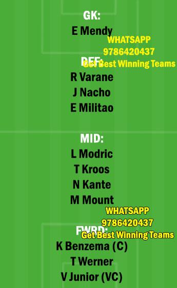 RM vs CHE Dream11 Team fantasy Prediction Champions League