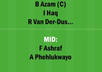 SA vs PAK 2nd ODI Match Dream11 Team fantasy Prediction