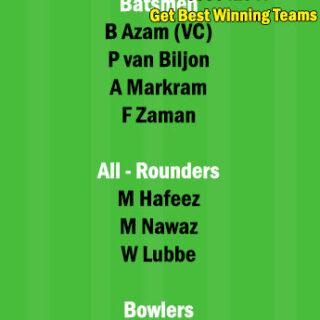 SA vs PAK 2nd T20 Match Dream11 Team fantasy Prediction