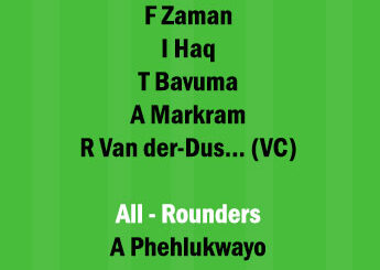 SA vs PAK 3rd ODI Match Dream11 Team fantasy PredictionSA vs PAK 3rd ODI Match Dream11 Team fantasy Prediction
