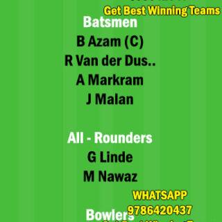 SA vs PAK 4th T20 Match Dream11 Team