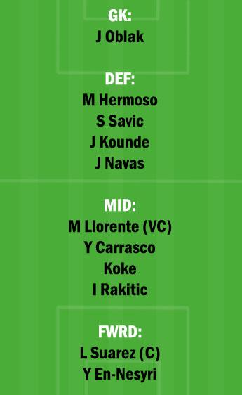SEV vs ATL Dream11 Team fantasy Prediction LaLiga Santander