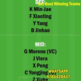 SHN vs BEI Dream11 Team fantasy Prediction Chinese Super League
