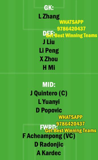 SHZ vs QIN Dream11 Team fantasy Prediction Chinese Super League