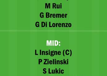 TOR vs NAP Dream11 Team fantasy Prediction Serie A