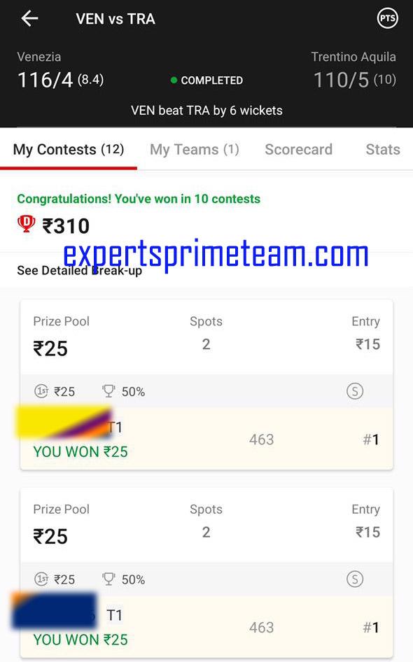 VEN-VS-TRA-Dream11-Results-