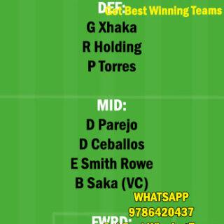 VIL vs ARS Dream11 Team fantasy Prediction Europa League
