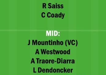 WOL vs BUR Dream11 Team fantasy Prediction Premier League