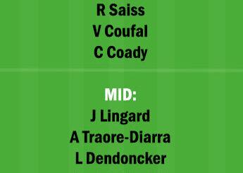 WOL vs WHU Dream11 Team fantasy Prediction Premier League