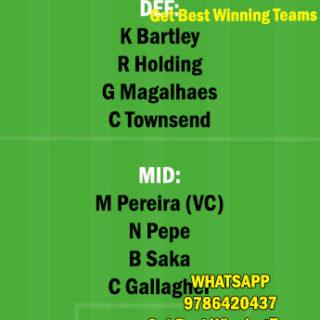 ARS vs WBA Dream11 Team fantasy Prediction Premier League