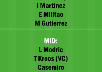 ATH vs RM Dream11 Team fantasy Prediction LaLiga Santander