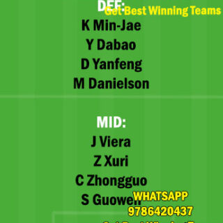 BEI vs DLN Dream11 Team fantasy Prediction Chinese super League