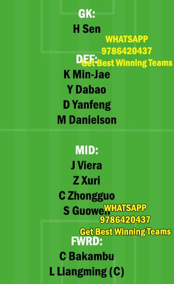 BEI vs DLN Dream11 Team fantasy Prediction Chinese super League