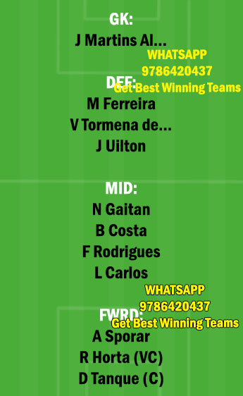 BRG vs PAC Dream11 Team fantasy Prediction Portuguese League