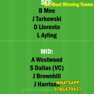 BUR vs LU Dream11 Team fantasy Prediction Premier League