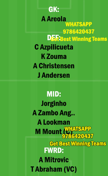 CHE vs FUL Dream11 Team fantasy Prediction Premier League