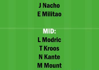CHE vs RM Dream11 Team fantasy Prediction Champions League