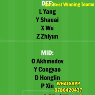 CHQ vs CNGZ Dream11 Team fantasy Prediction Chinese super League