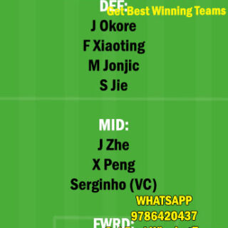 CHYT vs SHN Dream11 Team fantasy Prediction Chinese Super League