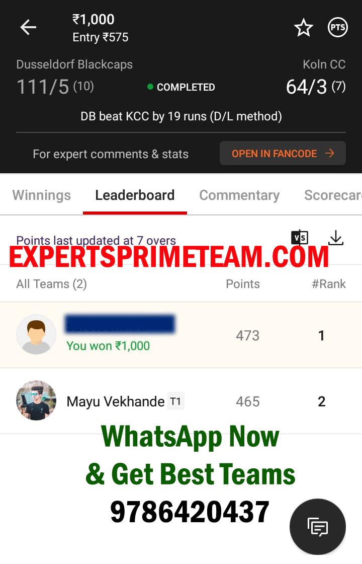 DB-VS-KCC-Dream11-Results--