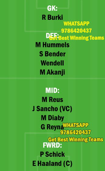 DOR vs LEV Dream11 Team fantasy Prediction Bundesliga