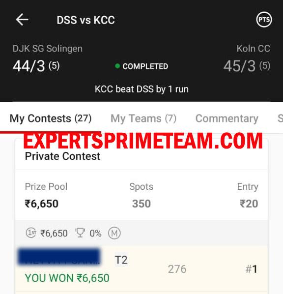 DSS-VS-KCC-Dream11-Results-